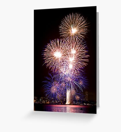 The First Bang - Sydney Harbour - New Years Eve - Midnight Fireworks Greeting Card