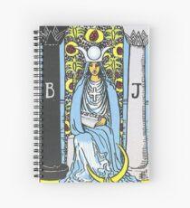 High Priestess Tarot Spiral Notebook