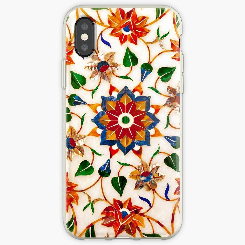 Diseño Floral Taj Mahal Funda y vinilo para iPhone