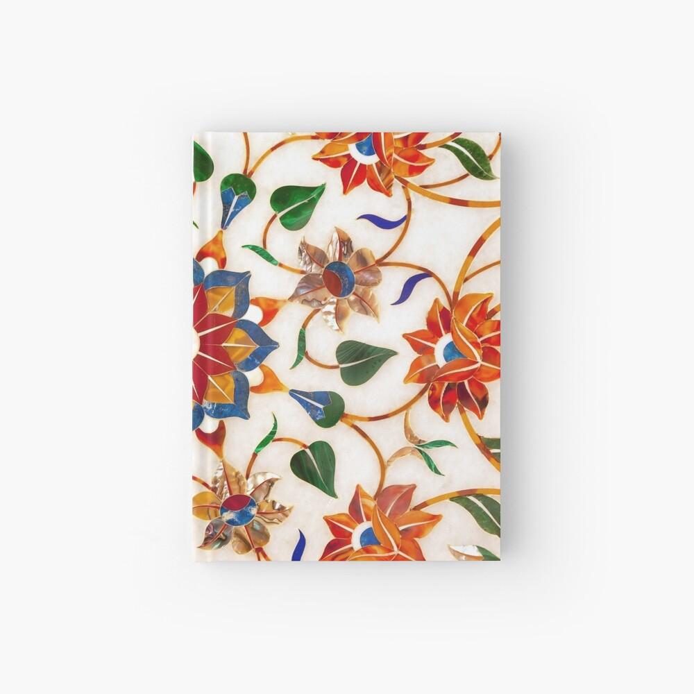 Diseño Floral Taj Mahal Cuaderno de tapa dura