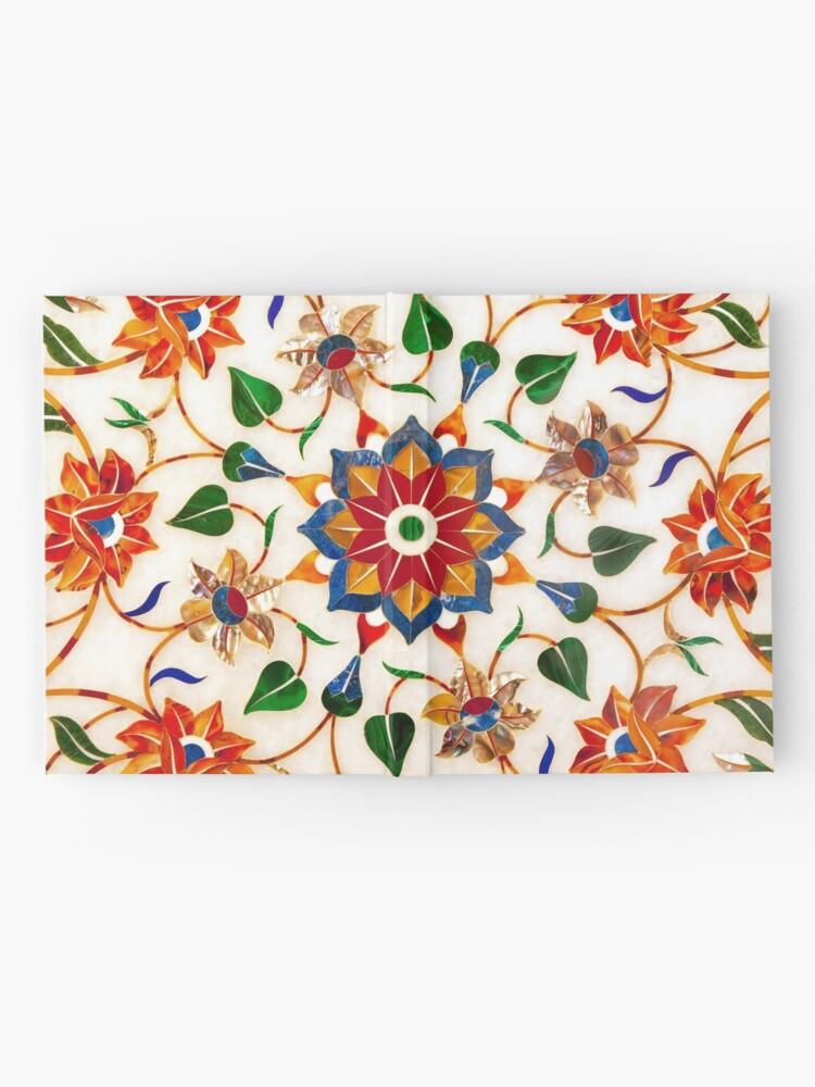 Vista alternativa de Cuaderno de tapa dura Diseño Floral Taj Mahal