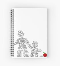 Haim Ginott - I've come to a frightening conclusion... (in black) Spiral Notebook