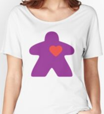 Meeple Love - purple Relaxed Fit T-Shirt