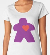 Meeple Love - purple Premium Scoop T-Shirt