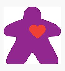 Meeple Love - purple Photographic Print
