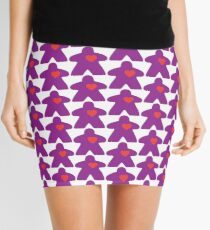 Meeple Love - purple Mini Skirt