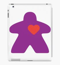 Meeple Love - purple iPad Case/Skin