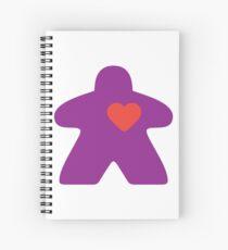 Meeple Love - purple Spiral Notebook