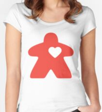 Meeple Love - red Fitted Scoop T-Shirt