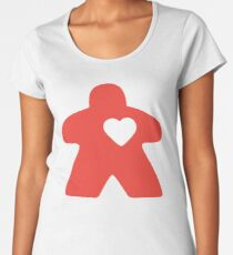 Meeple Love - red Premium Scoop T-Shirt