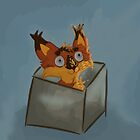 CatFox in the box by Nightedhunter