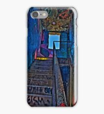 Stairwell in The Centre of Graffiti - SYDNEY iPhone Case/Skin