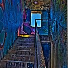 Stairwell in The Centre of Graffiti - SYDNEY by Bryan Freeman