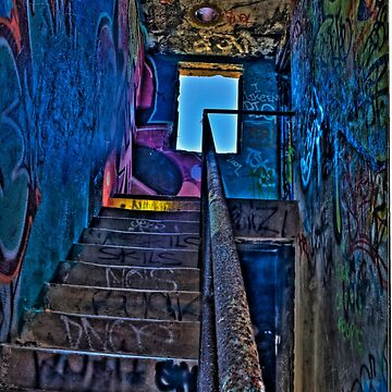 Stairwell in The Centre of Graffiti - SYDNEY by BryanFreeman