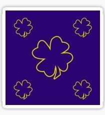 Purple irish leaf repeat pattern design best for gift idea Sticker