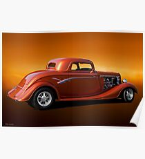 1934 Ford Three-Window Coupe Poster
