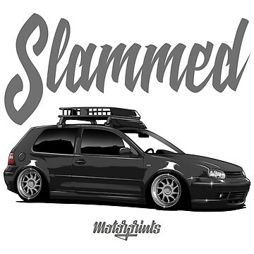 Slammed Golf mk4 (black) by MotorPrints