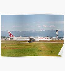 Qatar Airways (Qatar Amiri Flight), Boeing 777-300 (A7-BAJ), readying for take off  Poster