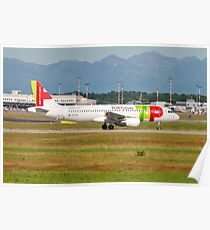 TAP Air Portugal, Airbus A320-200. Photographed at Linate airport, Milan, Italy Poster