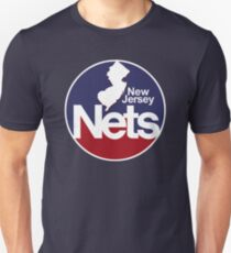 DEFUNCT - New Jersey Nets, Retro Basketball Slim Fit T-Shirt
