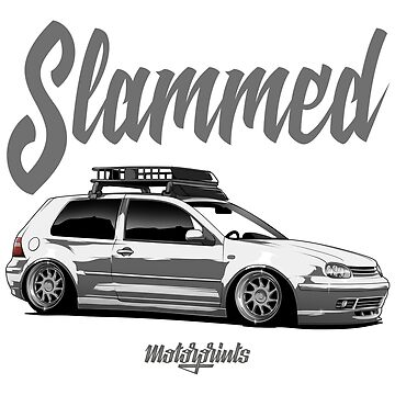 Slammed Golf mk4 (white) by MotorPrints
