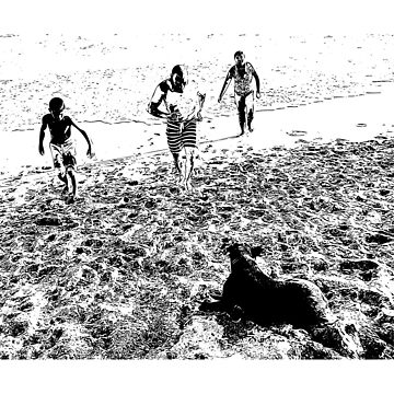 Family at the Beach by josemontanez18