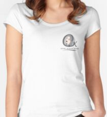 Cristina K Face Graphic Pocket (Grey) Women's Fitted Scoop T-Shirt