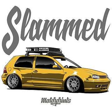 Slammed Golf mk4 (yellow) by MotorPrints