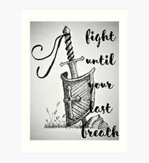 Death Is not an Option Art Print