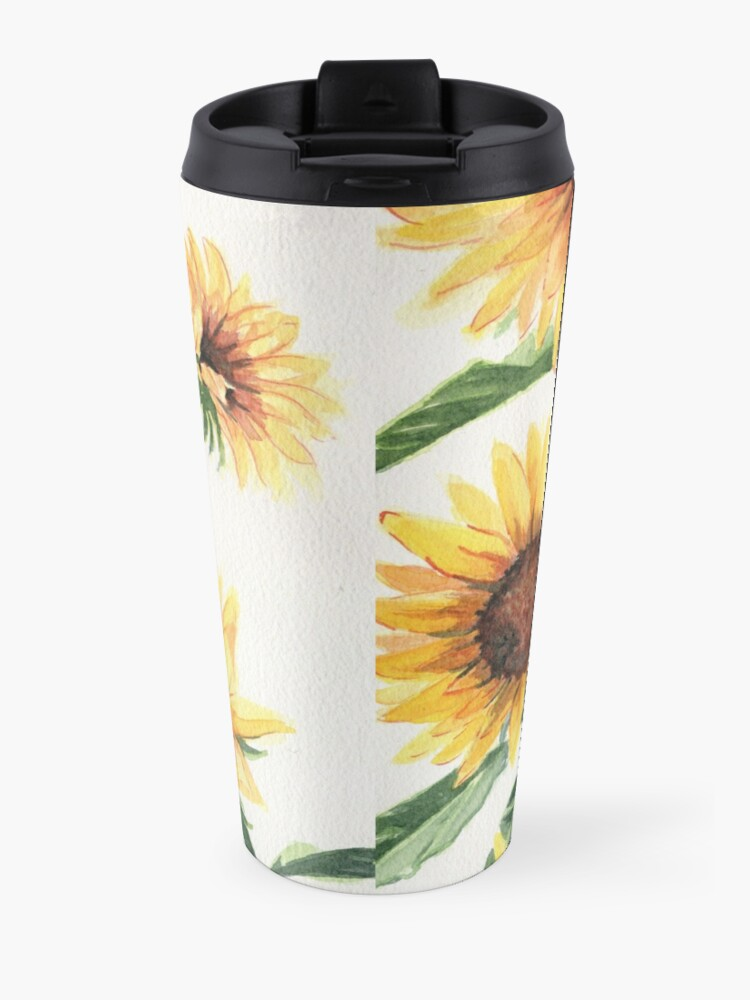 Alternate view of Sunflowers Travel Mug