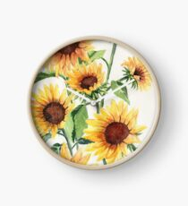 Sunflowers Clock