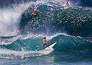 Surfer At Banzai Pipeline 2011.2 by Alex Preiss