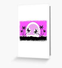 EGA sunset with pixel graphic Greeting Card