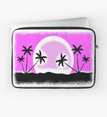 EGA sunset with pixel graphic Laptop Sleeve