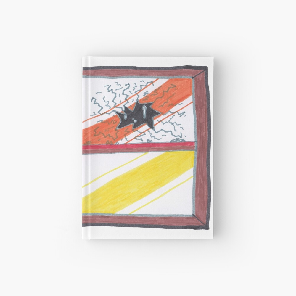 Merch #20 -- Wrecked Window - Pane Pain Hardcover Journal