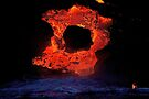Lava Flow at Kalapana 4 by Alex Preiss