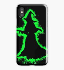 Evil halloween green and black silhouette iPhone Case