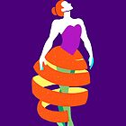 Orange peel dress ballet dancer by awiec