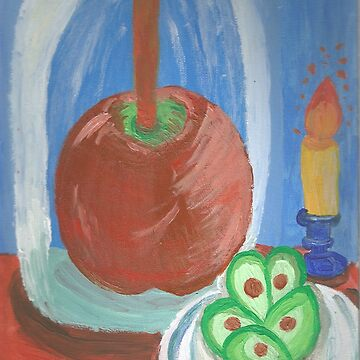 Still Life Caramel Apple by mikistarlight