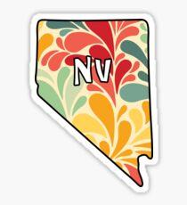 Floral Nevada Sticker