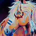 Apache - Native American War Horse by EveiArt