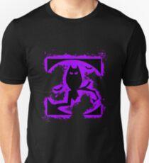 Bat halloween purple and black silhouette Unisex T-Shirt