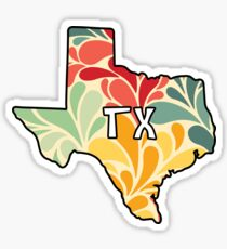 Blumen-Texas Sticker