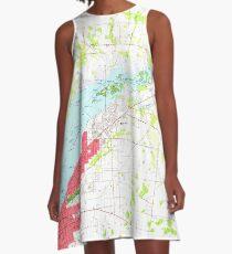 USGS TOPO Map Florida FL Fort Myers 346272 1958 24000 A-Linien Kleid