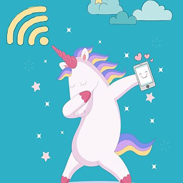 Free Wifi Fanny Unicorn Dabbing Shirt by AYmanee