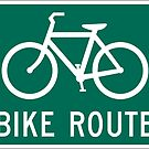 Bike Route Sign with Bicycle by Tony Herman
