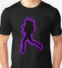 Silhouette fit purple and black silhouette Unisex T-Shirt