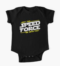 May The Speed Force Be With You Short Sleeve Baby One-Piece