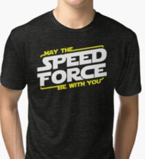 Camiseta de tejido mixto Que The Speed ​​Force esté contigo