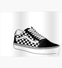 Checkered Vans Poster